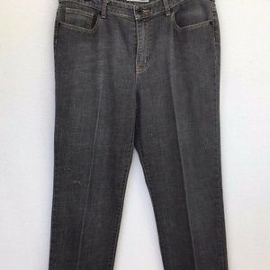 Chico's Platinum Faded  Black Denim Jeans Size 2.5
